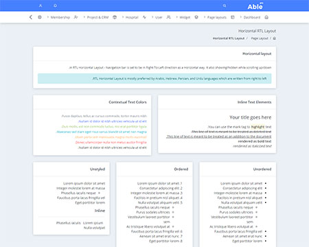 admin template