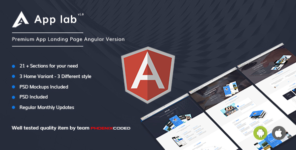 AppLab - Premium App Landing Page Angular Version