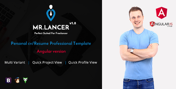 mr lancer - personal cv  resume template angular version