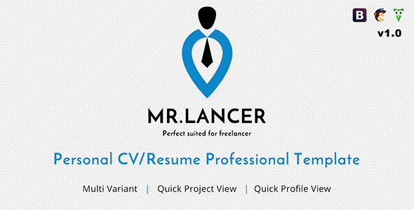 Mr.Lancer - Personal CV/Resume template