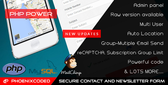 PHP Secure Contact and Newsletter Form