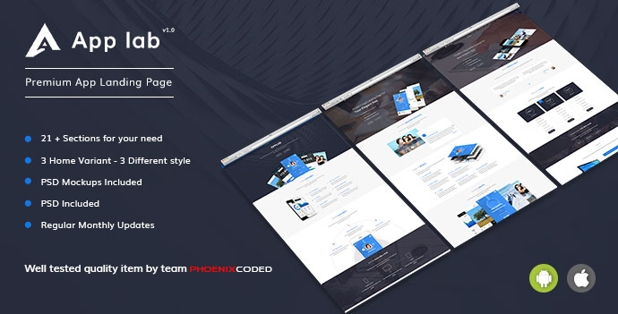 AppLab – Premium App Landing Page HTML Version
