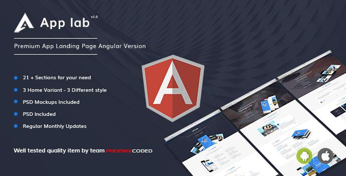 AppLab – Premium App Landing Page Angular Version