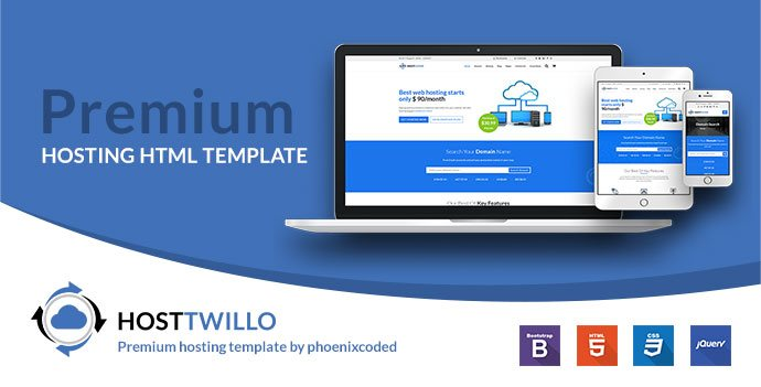 HostTwillo Responsive Hosting HTML Template