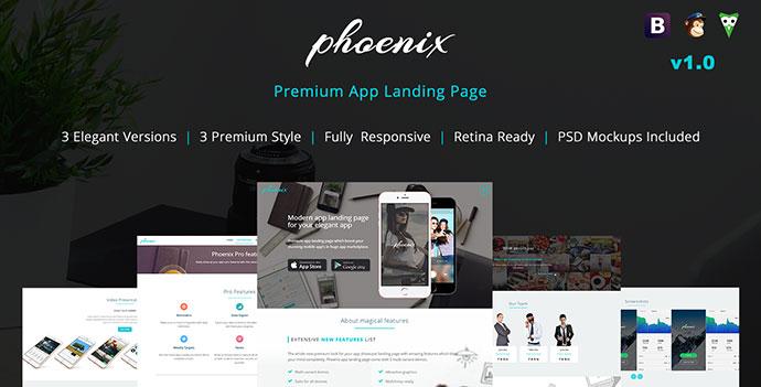 Phoenix app landing page