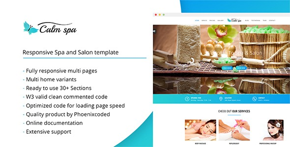Calm spa – HTML Responsive Template for Spa and Salon