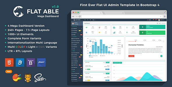 Flat Able – Bootstrap 4 Admin Template